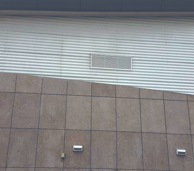 Grille de ventilation sur-mesure, Centre Commercial Bay 2, Ile-de-France